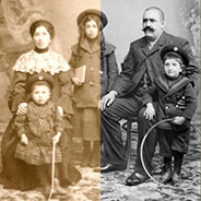 restauration carte postale