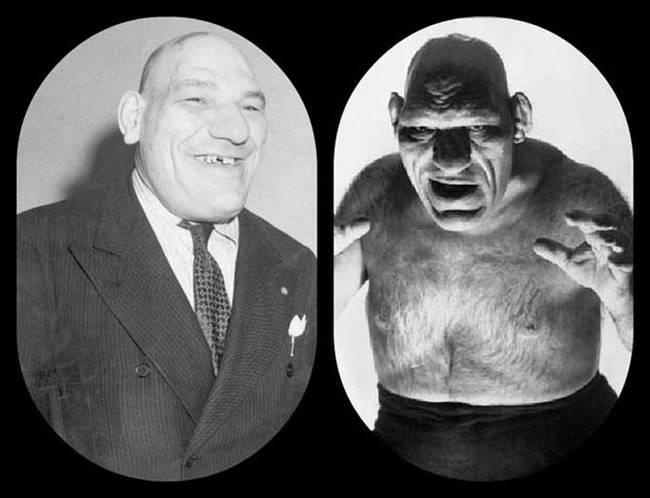 Maurice Tillet, photo ancienne, anomalies physiques, photos anciennes handicap, photos anciennes physique, photos anciennes maladie, vieille photo maladie