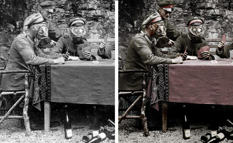 colorisation photo guerre