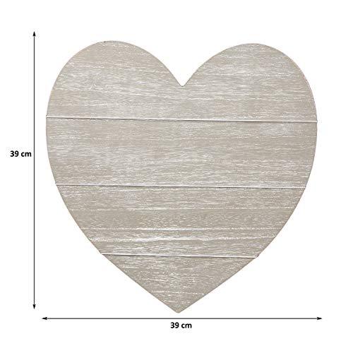 Cadre Photo Pêle Mêle Murale Forme Cœur En Bois Gris Tableau à