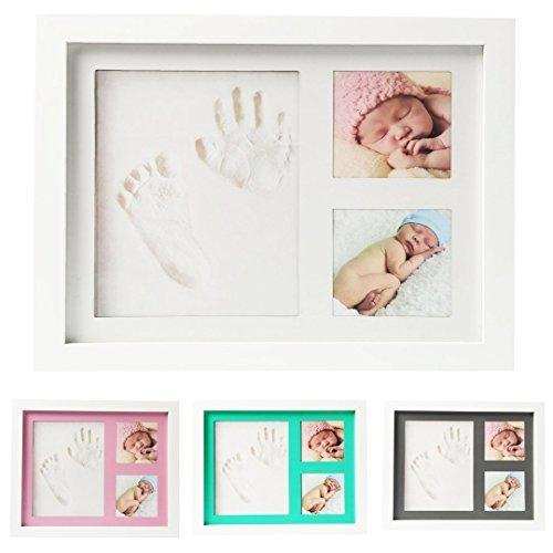 499559d33bb30 Kit Cadre Photo Empreinte Main   Pied Bébé – Souvenir de Famille ...