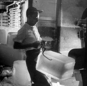 ancien metier coupeur de glace