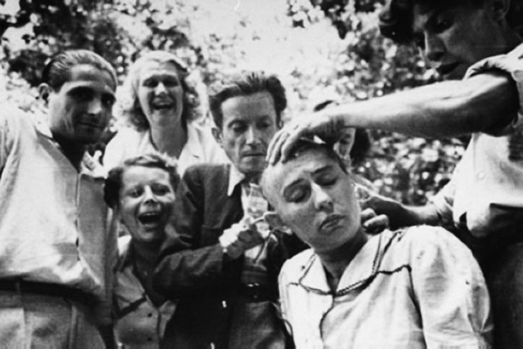 femme tonte 1944 liberation