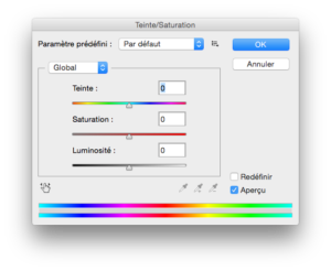 teinte saturation logiciel retouche photo