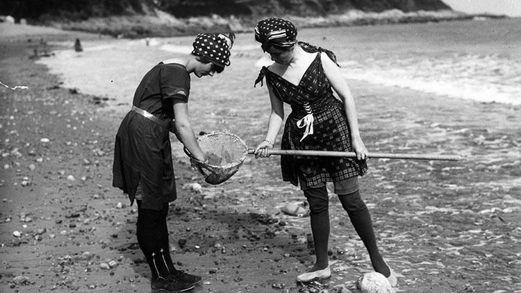 Avant le bikini - Peche plage