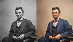 Top 25 photos anciennes historiques colorisées Abraham Lincoln