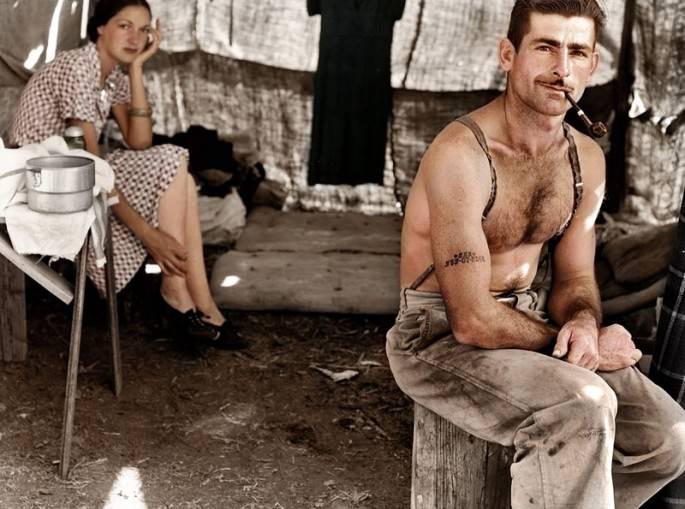 Top 25 photos anciennes historiques colorisées Bûcheron