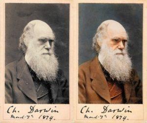 Top 25 photos anciennes historiques colorisées Charles Darwin