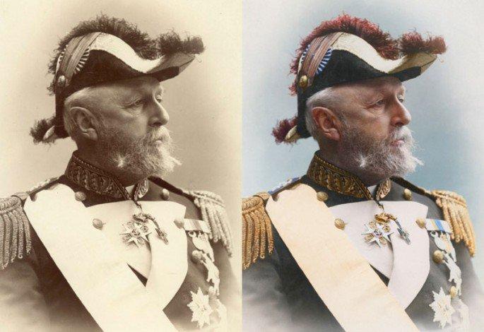 Top 25 photos anciennes historiques colorisées Oscar II roi de Suède et de Norvège