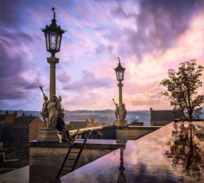 Top 25 photos anciennes historiques colorisées Vue du Capitole à Nashville