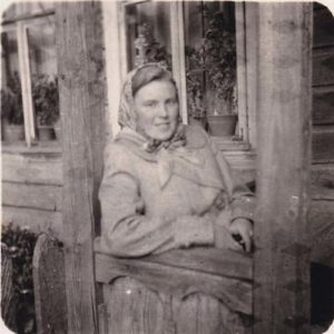 photo ancienne d'une femme