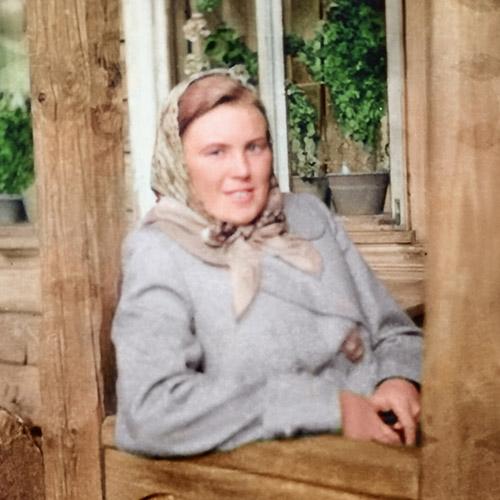 photo restaurée d'une femme
